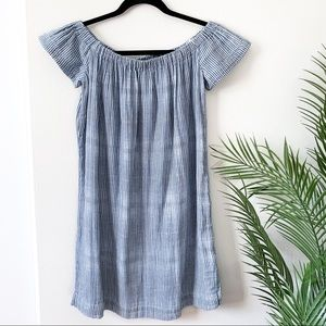 Cloth & Stone | Off the shoulder striped dress